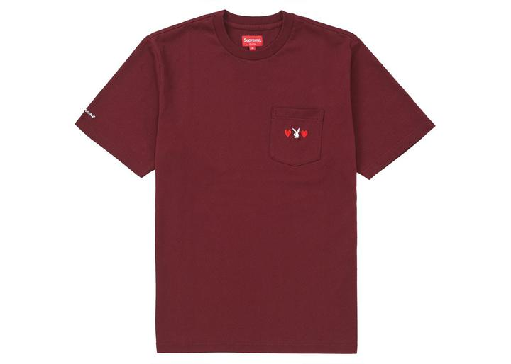 Supreme Playboy Pocket Tee Burgundy