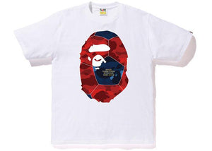 Bape Color Camo Ape Head Tee Performance White