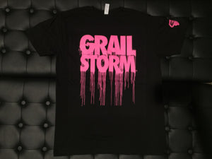 Grailstorm Dripped Tee's Pink