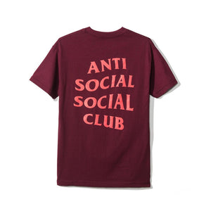 Anti Social Social Club The Club Tee 2 Maroon