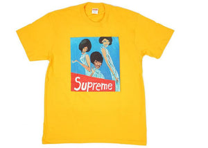 supreme group tee bright orange
