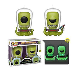 Funko Pop! Simpsons Treehouse of Horror Kang and Kodos Exclusive 2 Pack Shared Sticker Summer Convention Exclusive SDCC
