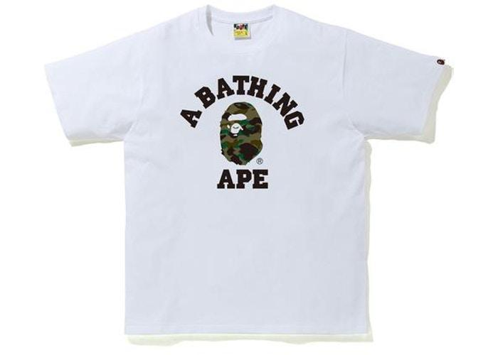 BAPE 1st Camo College T-Shirt (SS20) White/Green
