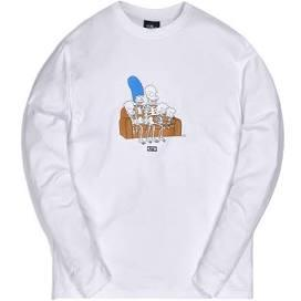 Kith x The Simpsons Couch L/S Tee White