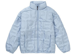 Supreme Bonded Logo Down Jacket Blue
