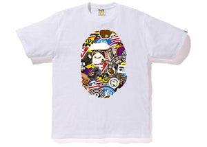 Bape Patched Big Ape Head Tee White
