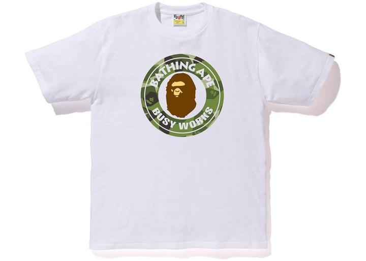 Bape Busy Works Tee Splinter Camo White/Olive
