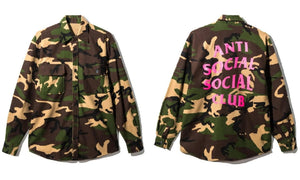 Anti Social Social Club Logo Mirage Camo Flannel