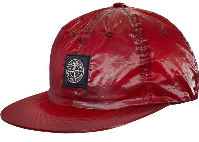Supreme Stone Island New Silk Light 6-Panel Red