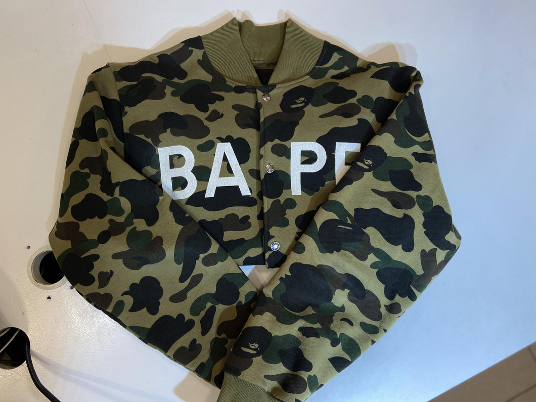 Bape Green Camo Bomber Jacket (Pre - Owned)