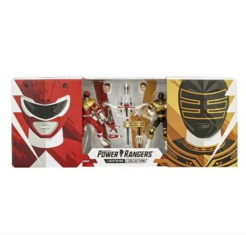 HASBRO MMPR POWER RANGER LIGHTING COLLECTION RED & ZEO GOLD SDCC 2019 EXCLUSIVE