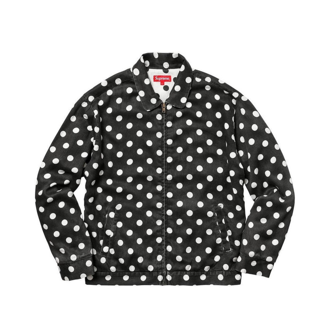Supreme Polka Dots Rayon Work Jacket Black