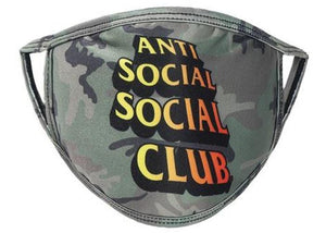 Anti Social Social Club Comic Sans Mask Camo