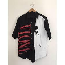 V Lone Scarface Button Up Short Sleeve