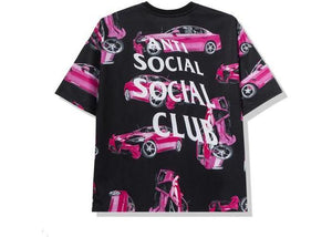 Anti Social Social Club 3AM On Melrose All Over Tee Black/Pink