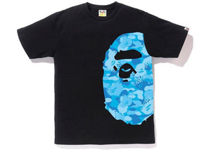 Bape Fire Ape Head Tee Black/Blue