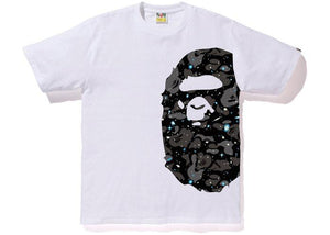 Bape Side Ape Head Tee Space Camo White/Black