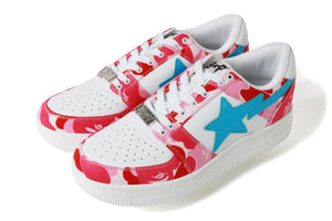 Bape Pink ABC Camo Bapesta Low