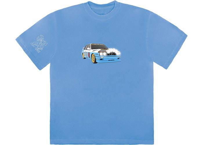 Travis Scott JACKBOYS Vehicle T-Shirt Blue