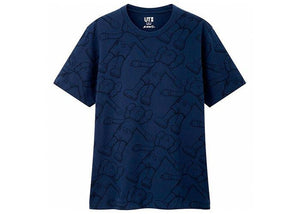 KAWS x Uniqlo All Over Holiday Print Tee Blue