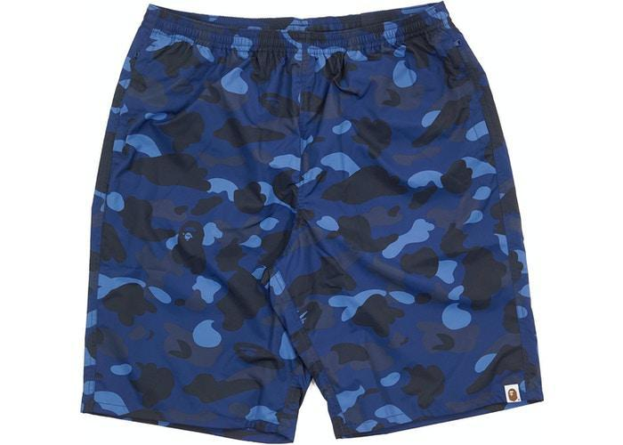 BAPE Ultimate Color Camo Beach Shorts Blue