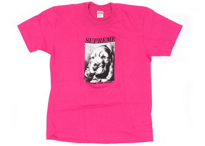 supreme remember tee dark pink