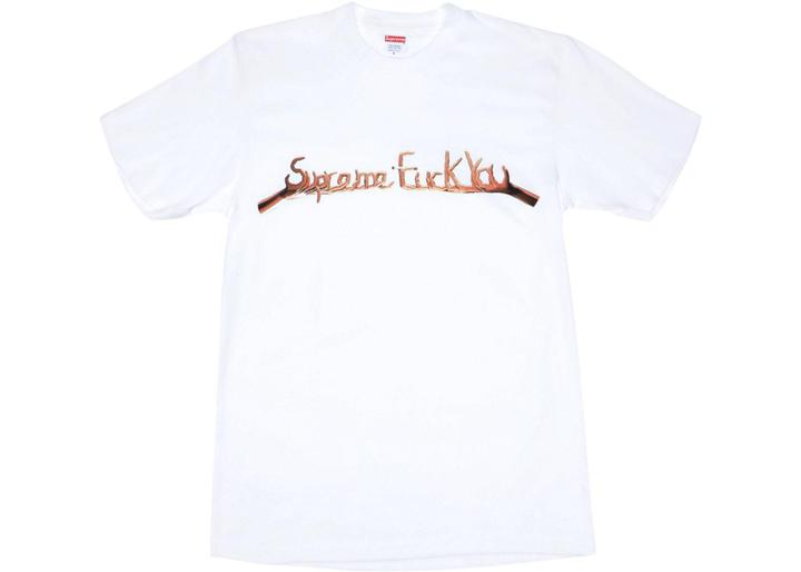 supreme fuck you tee white