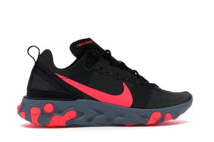 Nike React Element 55 Black Solar Red