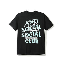 Load image into Gallery viewer, Antisocial Social Club NBHD Filth Fury Black Tee