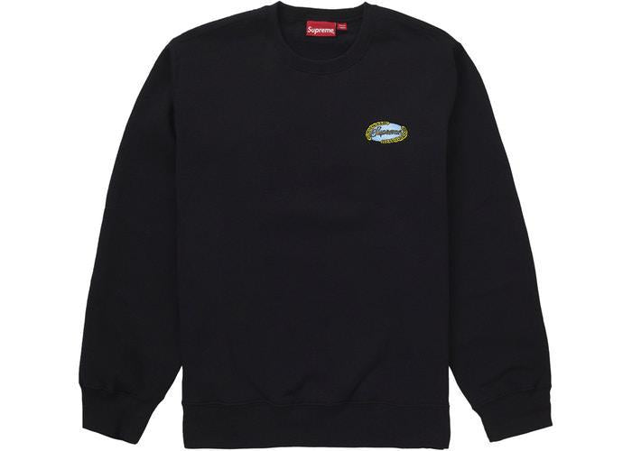Supreme Chain Logo Crewneck Black