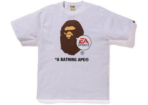 BAPE EA Sports Ape Head Tee Whiteabe
