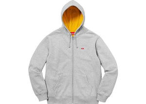 Supreme Contrast Zip Up Hooded Sweatshirt Heather Grey