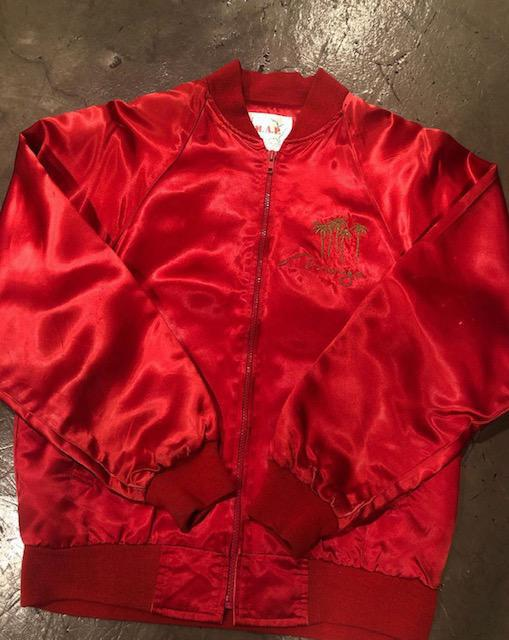 Mirage Casino Silk Red Zip Up