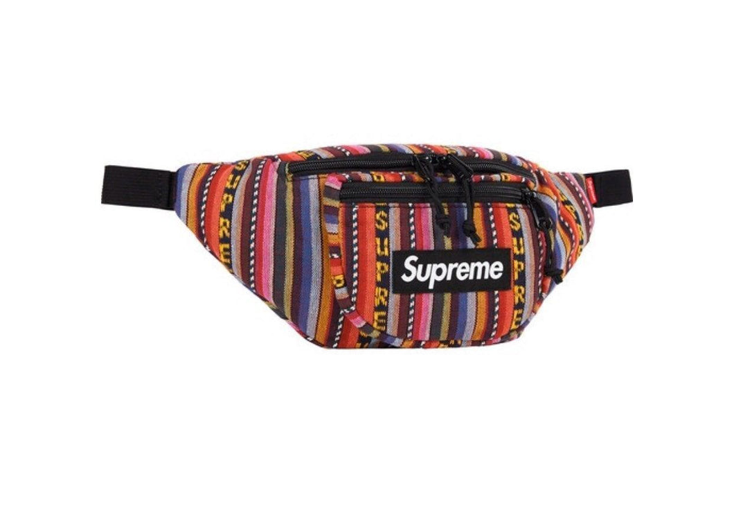 Supreme Woven Stripe Waist Bag Multicolor