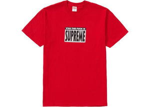 Supreme Who The Fuck Tee Red