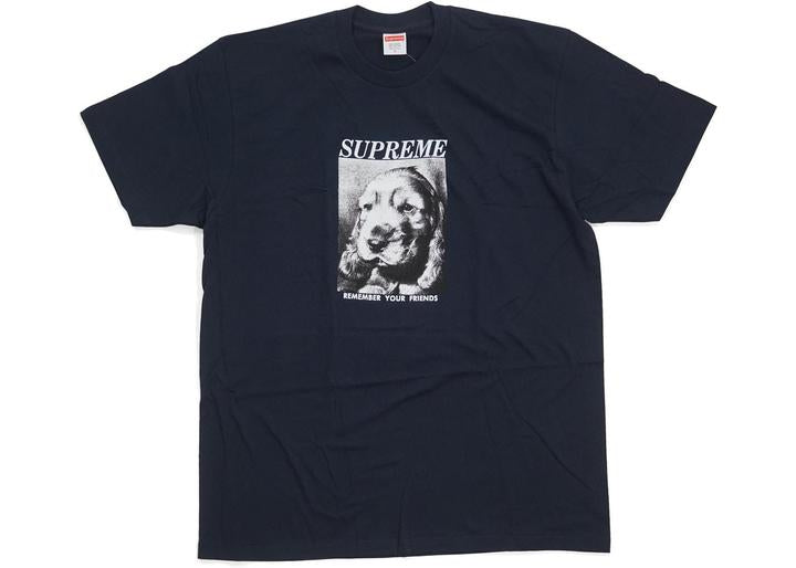supreme remember tee navy