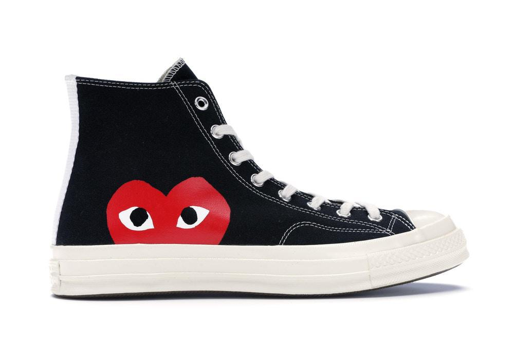 Converse Chuck Taylor All-Star 70s Hi Comme des Garcons PLAY Black (Pre - Owned)