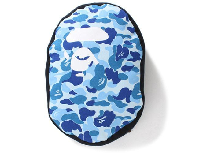 BAPE ABC Ape Head Cushion Blue