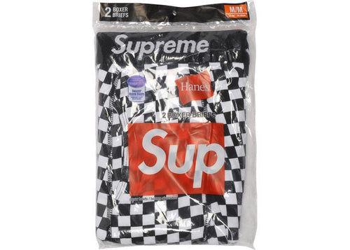 Supreme Hanes Boxer Briefs (2 Pack) Checkered