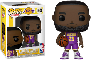 NBA LAKERS FUNKO POP! LEBRON JAMES (PURPLE JERSEY)