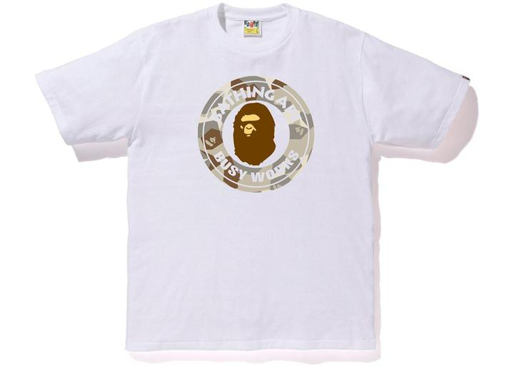 Bape Busy Works Tee Splinter Camo White/Beige