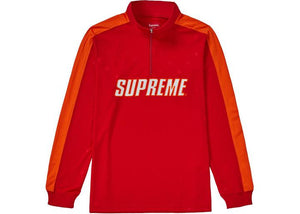 Supreme Track Half Zip Pullover Red