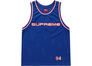Supreme Rhinestone Basketball Jersey Royal