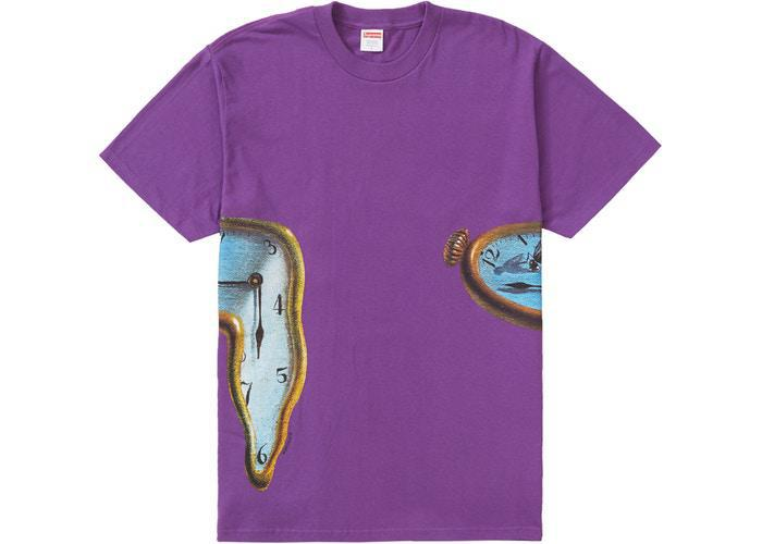 Supreme The Persistence Of Memory Tee Purple