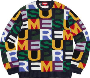 Supreme Big Letter Sweeater Multicolor