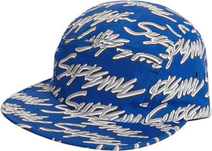Supreme Signature Script Logo Camp Cap Royal