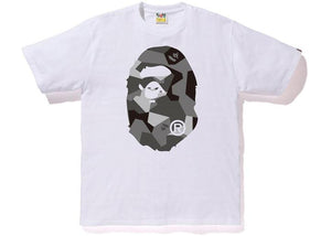 Bape Big Ape Head Tee Splinter Camo White/Black