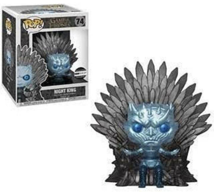 METALLIC NIGHT KING ON THRONE Funko Pop Game Of Thrones HBO Exclusive