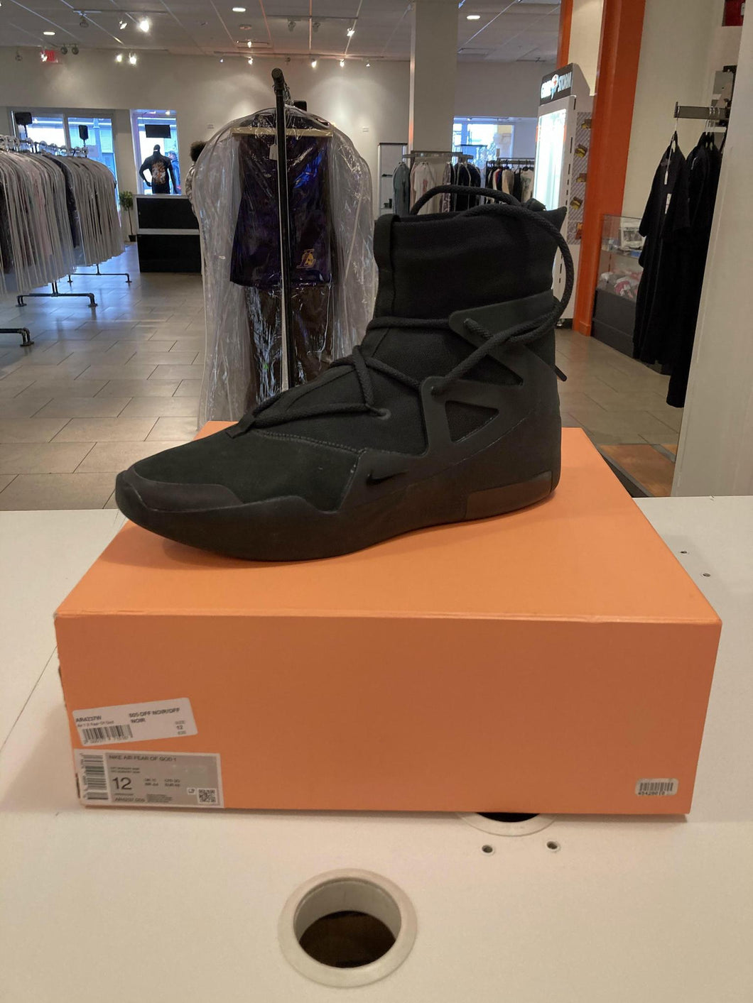 Nike Air Fear of God 1 Triple Black PreOwned