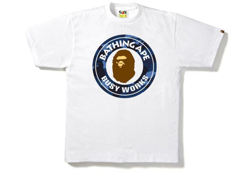 BAPE Color Camo Busy Works Tee White/Blue